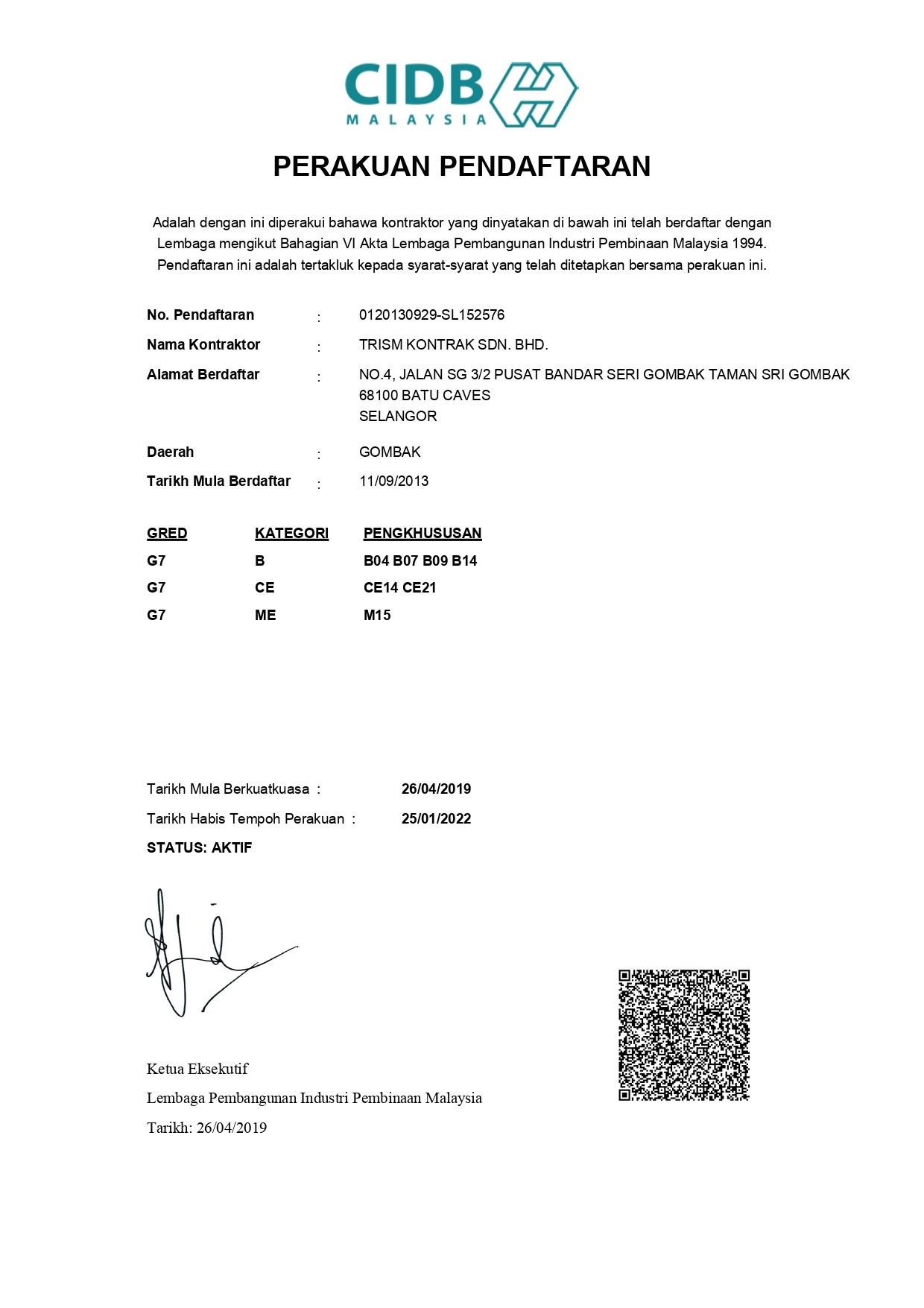 Trism Kontrak Sdn Bhd Ifp Advisors Group